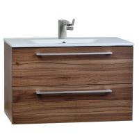 "Caen 32"" Wall-Mount Modern Bathroom Vanity Set Grey Oak Optional Mirror RS-DM800-WN"