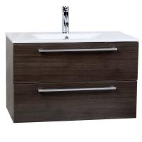 "32"" Wall-Mount Modern Bathroom Vanity Set Grey Oak RS-DM800-GO"