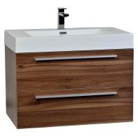 "31.5"" Wall-Mount Contemporary Bathroom Vanity Set in Walnut TN-M800-WN"