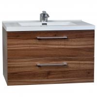 "33.5"" Wall-Mount Contemporary Bathroom Vanity Set in Walnut TN-TA860-WN"