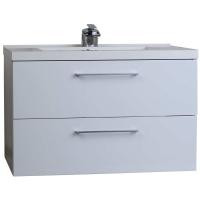 "33.5"" Wall-Mount Contemporary Bathroom Vanity Set Black TN-TA860-HGB"