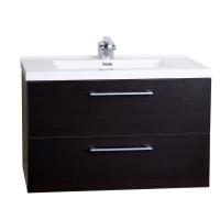 "33.5"" Wall-Mount Contemporary Bathroom Vanity Set Espresso TN-TA860-WG"