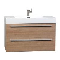 "35.5"" Wall-Mount Contemporary Bathroom Vanity Light Cherry TN-M900-LC"