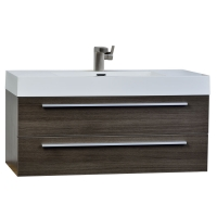 "fresca 39.25"" Wall-Mount Contemporary Bathroom Vanity Grey Oak TN-T1000-GO"