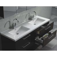 "Camino 59.5"" Modern Double Vanity Set Wall Mount Espresso  TN-A1510-WG"
