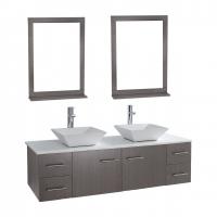 "Siena Solid Wood 72"" Wall-mounted Double Bathroom Vanity Set VM-VAW1-72-LGO"