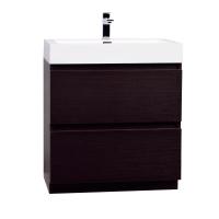 """29.5"""" Contemporary Bathroom Vanity in Espresso Optional Mirror TN-LY750-WG"""
