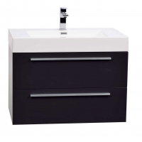 "31.25"" Wall-Mount Modern Bathroom Vanity in High Gloss Grey TN-M800-HGCG"