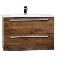 """Nola 35.5"""" Wall-Mount Modern Bathroom Vanity Rosewood TN-T900C-RW"""