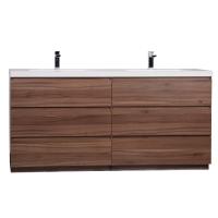 CBI Edison 70.8 Inch Double Modern Bathroom Vanity Walnut TN-ED1800D-WN