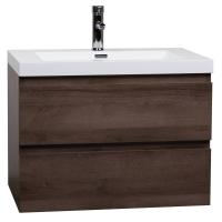 "Angela 29.5"" Wall-Mount Bathroom Vanity Black Walnut TN-AG750-BW"