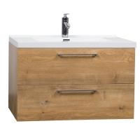 """33.5"""" Wall-Mount Contemporary Bathroom Vanity Set Natural Oak TN-TA860-NO"""