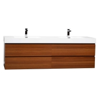 "Angela 71"" Contemporary Double Wall Mounted Teak TN-AG1810-TK"