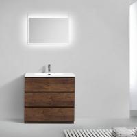 "Edison 35.5"" Single Bathroom Vanity Set in Rosewood TN-ED900-RW"