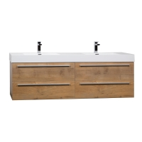 """Andria 71"""" Contemporary Double Wall Mounted Natural Oak TN-M1810-NO"""