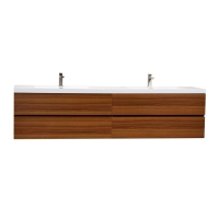 "Angela 83.4"" Contemporary Double Wall Mounted Rosewood TN-AG2120-1-TK"
