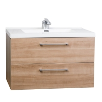 "33.5"" Wall-Mount Contemporary Bathroom Vanity Set Light Cherry TN-TA860-LC"