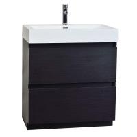 "29.5"" Contemporary Bathroom Vanity in Black Optional Mirror TN-LY750-BK"