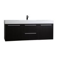 """59""""  Wall Mount Contemporary Bathroom Vanity  in Espresso TN-NT1500S-WG"""