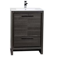CBI Enna 23.5-inch Grey Oak Modern Bathroom Vanity TN-LA600-GO