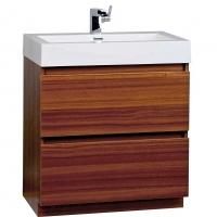 "29.5"" Contemporary Bathroom Vanity Set in Teak Optional Mirror TN-LY750-TK"