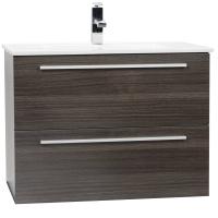 "Nola 29.5"" Wall-Mount Modern Bathroom Vanity Grey Oak TN-T750C-GO"