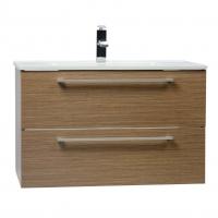 "Caen 32"" Wall-Mount Modern Bathroom Vanity  Light Oak Optional Mirror RS-DM800-LOK"