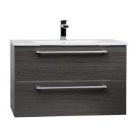 "Caen 32"" Wall-Mount Modern Bathroom Vanity Oak Optional Mirror RS-DM800-OAK"