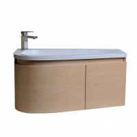 "Gingo 35.5"" Wall-Mount Single Bathroom Vanity White Oak TN-GK900-WO"