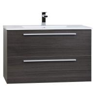 "Nola 35.5"" Wall-Mount Modern Bathroom Vanity Grey Oak TN-T900C-GO"