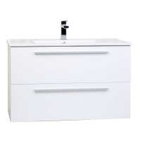 "Nola 35.5"" Wall-Mount Modern Bathroom Vanity Gloss White TN-T900C-HGW"