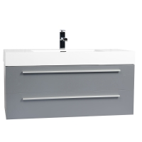 "39.5"" Wall-Mount Contemporary Bathroom Vanity Matte Metalic Grey TN-T1000-MG"