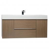 "47.25""  Wall Mount Contemporary Bathroom Vanity  Light Oak RS-R1200-LOK"