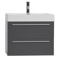 "27"" Single Bathroom Vanity Set in High Gloss Grey TN-T690-HGCG"