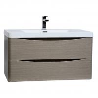 "Merida 30"" Wall-Mount Bathroom Vanity in Light Pine TN-SM760-LP"