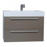 "31.5"" Wall-Mount Contemporary Bathroom Vanity Set Light Pine TN-M800-LP"