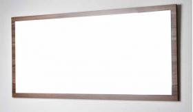 57 in. W x 26.5 in. H Framed Wall Mirror in Walnut TN-A1440-M-WN