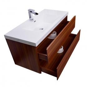 "Angela 35.5"" Wall-Mount Bathroom Vanity in Grey Oak TN-AG900-GO"