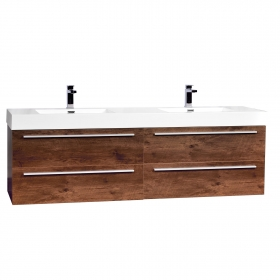 """Andria 71"""" Contemporary Double Wall Mounted Rosewood TN-M1810-RW"""