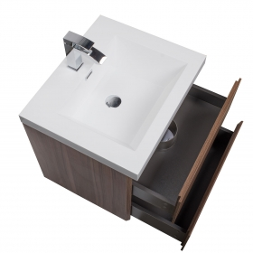 "Angela 23.5"" Wall-Mount Bathroom Vanity in Walnut TN-AG600-WN"
