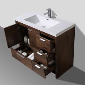 Buy CBI  42 Inch Rosewood Modern Bathroom Vanity TN-ly1065-1-RW  on ConcepBaths.com