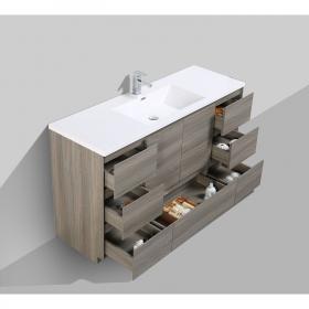 Buy CBI Edison 59 Inch Single Modern Bathroom Vanity Maple Grey TN-ED1500S-MG on www.conceptbaths.com, FREE SHIPPING