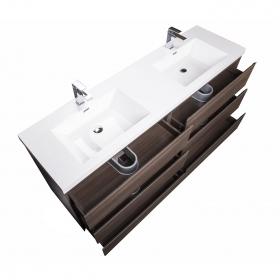 Buy CBI Edison 70.8 Inch Doube Modern Bathroom Vanity Grey Oak TN-ED1800D-GO on www.conceptbaths.com, FREE SHIPPING