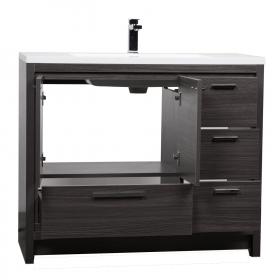 CBI Enna 36 Inch Grey Oak Modern Bathroom Vanity TN-LA1200-GO