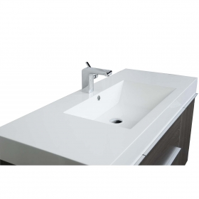 """47"""" Wall-Mount Contemporary Bathroom Vanity  Grey Oak TN-T1200-1-GO"""