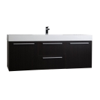 "59""  Wall Mount Contemporary Bathroom Vanity  in Espresso TN-NT1500S-WG"