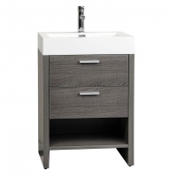 "Mula 23.5"" Modern Bathroom Vanity Oak RS-L600-OAK"