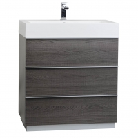 "29.25"" Single Bathroom Vanity Set in Oak  RS-L750-OAK"