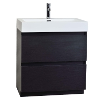 "29.5"" Contemporary Bathroom Vanity in Black Optional Mirror TN-LY750-BK"