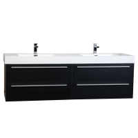 "Monza 71"" Contemporary  Double Vanity Set RS-DM1810-OAK"